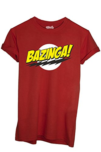 T-SHIRT BAZINGA BIG BANG THEORY-SERIE TV by MUSH Dress Your Style - Uomo-S-ROSSA