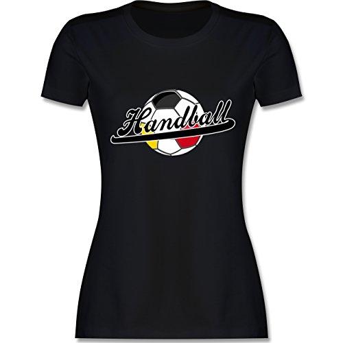 Handball WM 2019 - Handball Deutschland - L - Schwarz - L191 - Damen Tshirt und Frauen T-Shirt