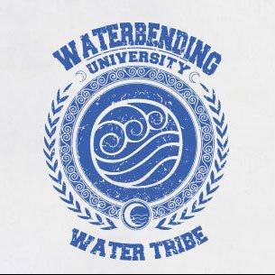 TEXLAB - Waterbending University - Herren T-Shirt Gelb