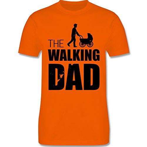Shirtracer Vatertag - The Walking Dad - Herren T-Shirt Rundhals Orange