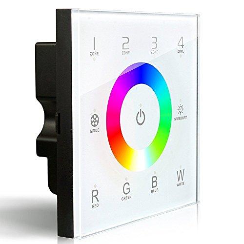 DX8RGBW inalámbrico 2,4gHz DMX512Master de consola controlador de panel táctil regulador de intensidad de RF control de pared 4zonas RGB RGBW RGBWW LED tira luces lámparas de mesa