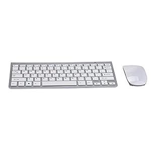 Prevently Tastatur und Maus Set,Tastatur-Maus-Set Kabellos Wireless Keybord 2,4 GHz Wireless Gaming Mouse + Wireless Tastatur Pro Gamer für PC Laptop Desktop