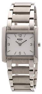 Reloj de mujer Boccia B3155-03 de cuarzo, correa de titanio color plata de Boccia