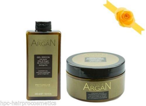 Phytorelax Olio di Argan - Set regalo: Gel doccia 250ml & Crema ricca massaggio corpo 250ml