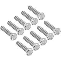 acero inoxidable M10x25mm Tornillos hexagonales de cabeza hexagonal de acero inoxidable con rosca DIN 933 St@llion M10 A2