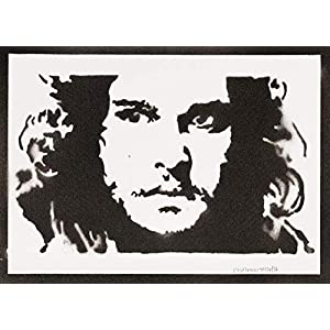 Jon Snow Game Of Thrones Poster Plakat Handmade Graffiti Sreet Art - Artwork