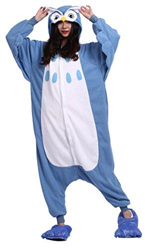 Imagen de cuteon unisexo adulto dibujos animados animal kigurumi pijama ropa de dormir encapuchado cosplay disfraz búho l for altura 168 177cm