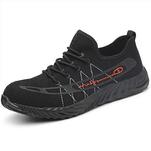 Lyoridra Arbeitsschuhe Herren Damen S3 Leicht Sportliche Sicherheitsschuhe Atmungsaktiv Schutzschuhe Stahlkappe Sneaker