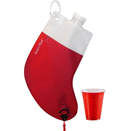 sk Novelty Party Flask, 2.25 liter. Use for Secret Santa or White Elephant Exchange Christmas Gifts. A Favorite at SantaCon ()