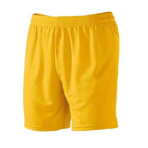Pantaloncini Corti Uomo Bermuda Per Sport Calcetto e Calcio Macron Team Shorts , Colore: Giallo, Taglia: M