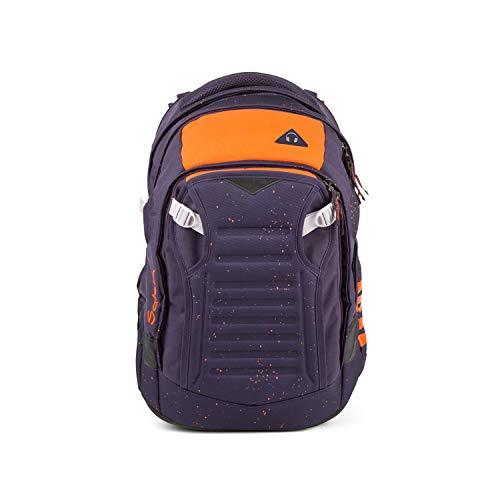 satch Match, Optimus Orange ergonomischer Schulrucksack, erweiterbar auf 35 Liter, extra Fronttasche
