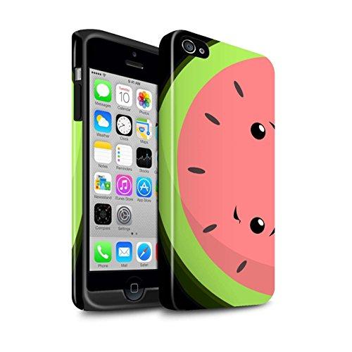 STUFF4 Glanz Harten Stoßfest Hülle / Case für Apple iPhone 7 / Wassermelone Muster / Kawaii Essen Kollektion Wassermelone