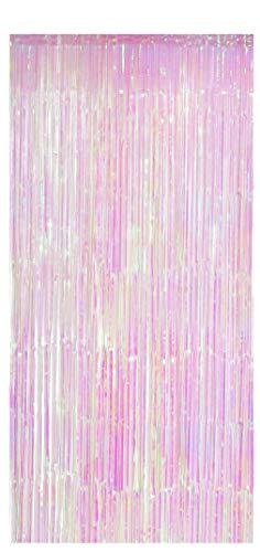 Kostüm Mädchen Hollywood - Foxxeo Selbstklebender Lametta Vorhang im Einhorn Look Größe 91 x 244 cm Einhorn