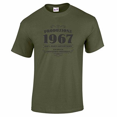T-shirt da uomo da 50esimo compleanno Produzione 1967 - Maglietta