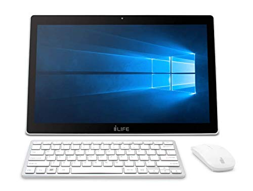 Life Digital Zed PC 17.3-inch Touch Screen Portable All-in-One Desktop (Intel Celeron/4GB RAM/500GB HDD/Built-in Battery/Windows 10 Home), White
