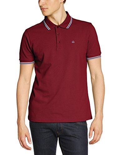 Merc of London Herren Poloshirt Card, Polo Shirt Rot (claret/harmony)
