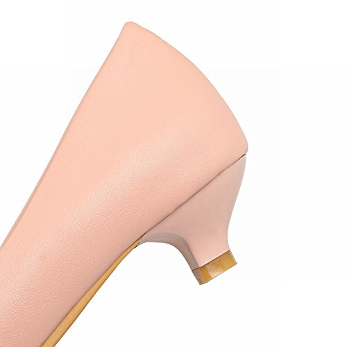 MissSaSa Donna Scarpe col Tacco Gattino Basso Pumps Elegante Rosa