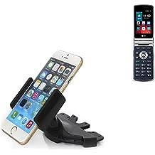 Ranura de CD Smartphone Soporte para LG Electronics Wine Smart | soporte de coche de uso general para los dispositivos de navegación / los teléfonos inteligentes para el montaje en la ranura de CD de la radio del coche. El soporte 360 ??es libremente ajustable. El dispositivo de agarre es adecuado para todos los teléfonos móviles de hasta 90 mm de ancho. Soporte para coche ranura de CD, ranura de CD del coche del soporte Coches, hecho para el smartphone, teléfono móvil, la navegaci