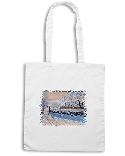 T-Shirtshock - Borsa Shopping TDA0030 monet176 la gazza Bianco