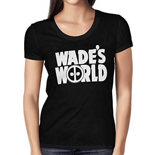 TEXLAB - Wade´s World - Damen T-Shirt, Größe S, (Incredible Frauen Für Kostüm Hulk)