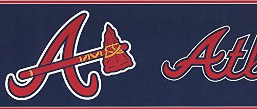 tlanta Braves MLB Baseball Team Fan Sport Wallpaper Border Modern Design, Roll-15' x 6