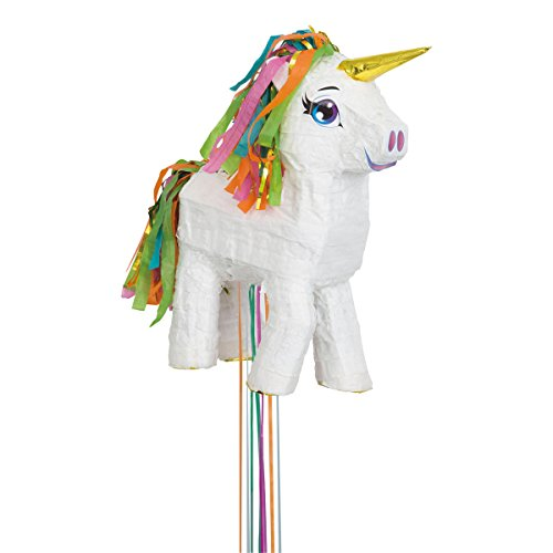 Unique Party Piñata unicornio para tirar Color blanco 65987