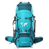70L Erwachsene Trekkingrucksäck Wanderrucksack Rucksack für Reisen Outdoor Klettern Camping,Green