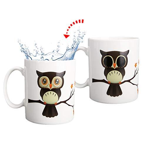 Rolin Roly Magische Farbwechsel Tasse Keramik Becher Heat Sensitive Mug Novelty Magic Mugs for Women Men Girls Personalised