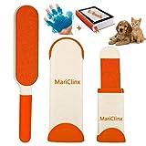MariClinX - Cepillo mágico Reutilizable y económico para Mascotas, Limpieza Profunda y eficaz, Libro electrónico para Poner Fin a Pelusas, pelos y Pelo en tu Alfombra, Ropa, sofá y Coche.