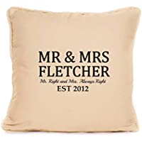 Personalised Throw Pillow Valentines Day Present | 18x18 Inch Cushion Pillow with Pad | Gift For Him Her, Bride and Groom