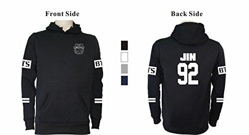 SERAPHY BTS Felpe con cappuccio Bangtan Boys felpe calde con pile Suga Jin Jimin Jung Kook J-Hope Rap-Mostro V rosa-95-JIMIN