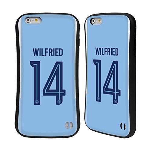 Ufficiale Manchester City Man City FC Nicolás Otamendi 2017/18 Giocatori Home Kit Gruppo 2 Case Ibrida per Apple iPhone 7 / iPhone 8 Wilfried Bony