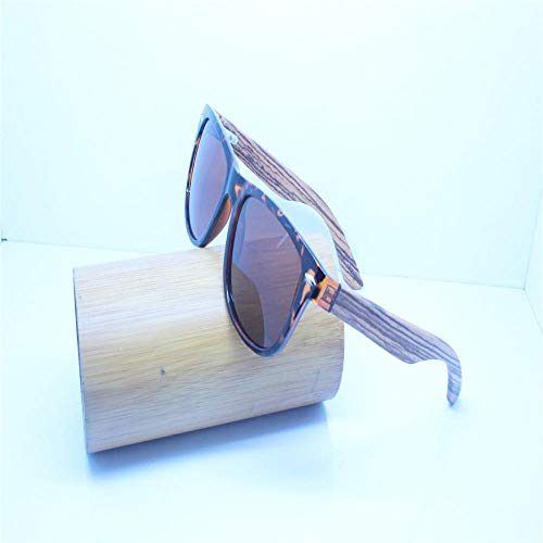 ANSKT Sonnenbrille Mode grün Bambus Brille Holz Tempel gla