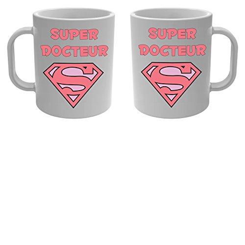 Yonacrea - Mug Tasse - Super Docteur - Rose