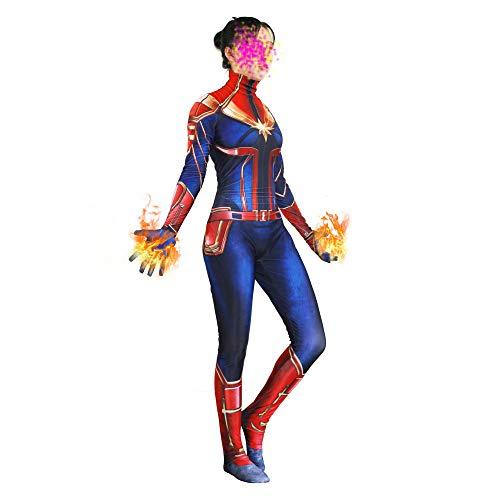 SEJNGF Superheld Halloween Lady Cosplay Siamesische Strumpfhose Charakter Performance Kostüm (Keine Kopfbedeckung),Adult-XL
