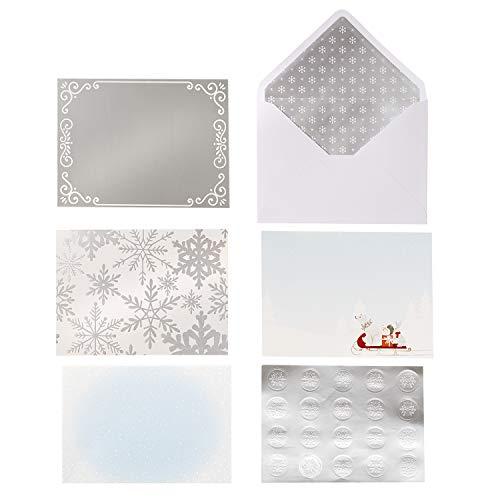Martha Stewart 30068355 Paper Snow Card Kit, Multicolor (Kit Snow Making)