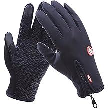 Goodbuy Guantes de Invierno Caliente Pantalla táctil, Impermeable Guantes de Moto Ciclismo para Hombres y Mujeres (XL)