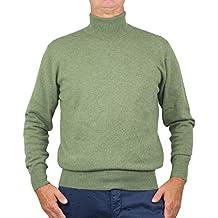 outlet store 80e18 a9ec0 Amazon.it: maglioni cashmere uomo - Verde