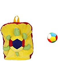 Jrp Mart Yellow Trotoise Soft Toy Bag With Little Ball