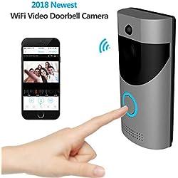 LHKAVE Intelligente Drahtlose Video-Türklingel, HD 720P-Überwachungskamera Kostenlose Cloud-Dienste / 166 ° Weitwinkel/Zwei-Wege-Video In Echtzeit