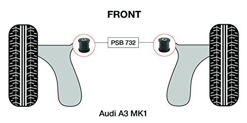 PSB polyuréthane Bush A3 Mk1front Wishbone avant bras bushing forgé OD 45 mm Kit 1996-2003 (Psb732)