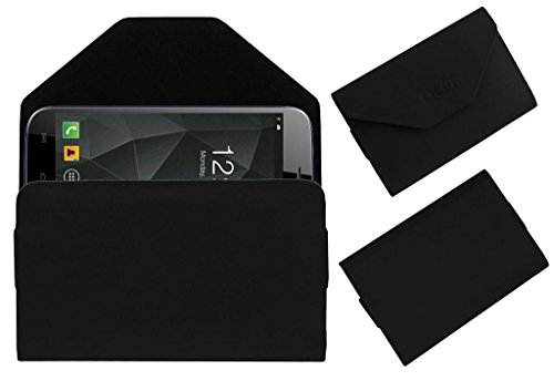 Acm Premium Pouch Case For Micromax A250 Canvas Turbo Flip Flap Cover Holder Black  available at amazon for Rs.179