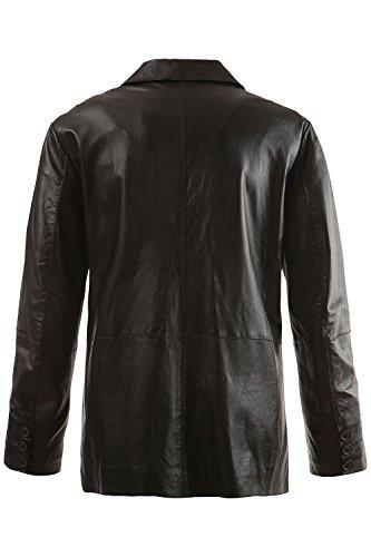 JP1880 Homme Grandes tailles Blazer en cuir 702413 Noir