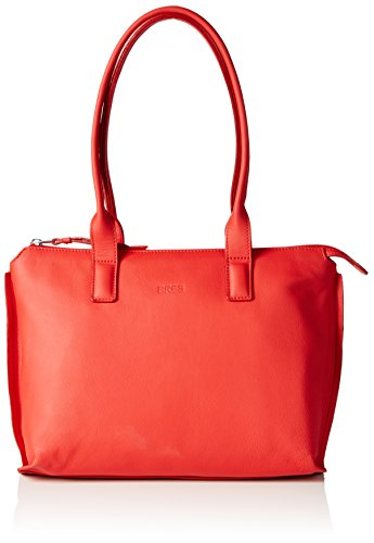 BREE Toulouse 3, red smooth, double shoulder 334151003 Damen Schultertaschen 32x11x22 cm (B x H x T), Rot (red 151)