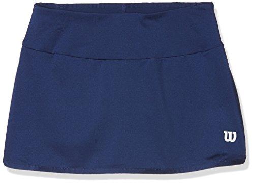 Wilson Mädchen Tennis-Rock, G Team 11'' Skirt, Polyester/Elasthan, Blau, Größe: XS, WRA766901