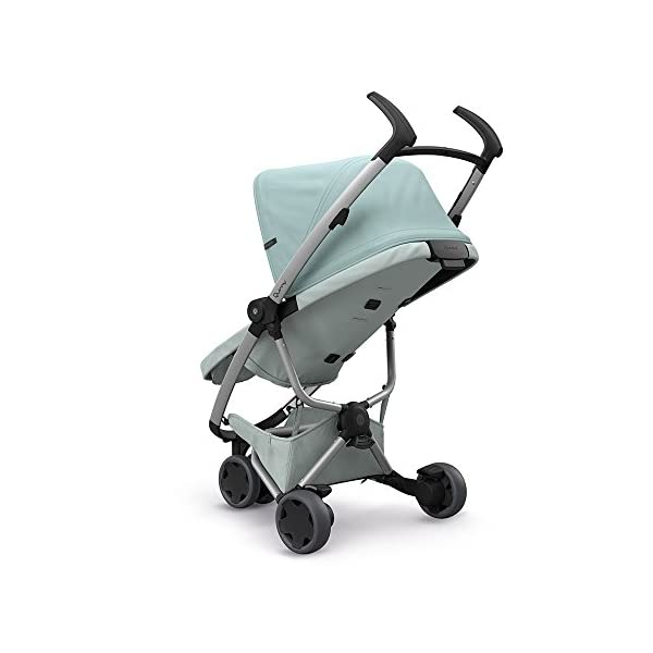 Quinny Zapp Flex Design 2018 Frost on Grey Quinny Flexible reversible seat in both Blick directions down to a horizontal lying position. Three Compact wheels - extremely manoeuvrable Classic Zapp handles - Super Strong Hold, easy to steer 5