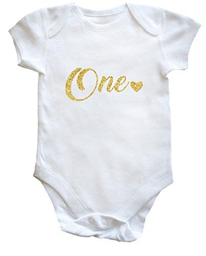 Hippowarehouse One Birthday Baby Vest Bodysuit (Short Sleeve) Boys Girls