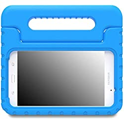 MoKo Etui Samsung Galaxy Tab A 7.0 Protecteur Support Convertible avec Poignée de Transport pour Tablette Samsung Galaxy Tab A 7.0 Pouces SM-T280/SM-T285 Modèle 2016, Bleu