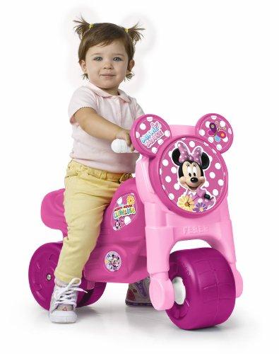 FEBER MotoFEBER 3 Minnie Disney - Trotteur à roues larges, pour les filles de 18 mois à 3 ans, Rose (Famosa 800009451)