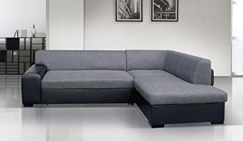 Dennis Designer Sofa mit Schlaffunktion, luxus, bequeme sofas, Schnekelmaß 260 x 175 cm, Sofabett Couchbett, Ottomane Rechts